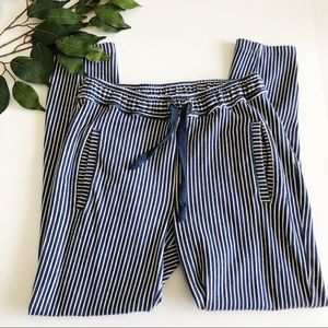 [Zara] Cozy Cotton Striped Skinny Pants